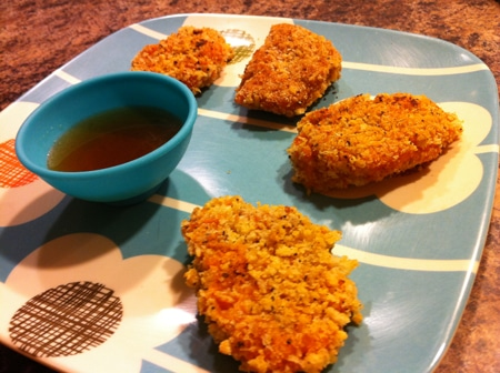 Sweet Potato Nuggets with Apple Cider Dipping Sauce