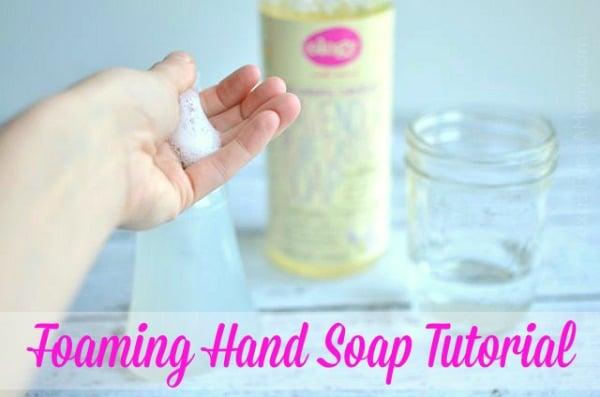 DIY Foaming Hand Soap Tutorial #Walgreensology #shop